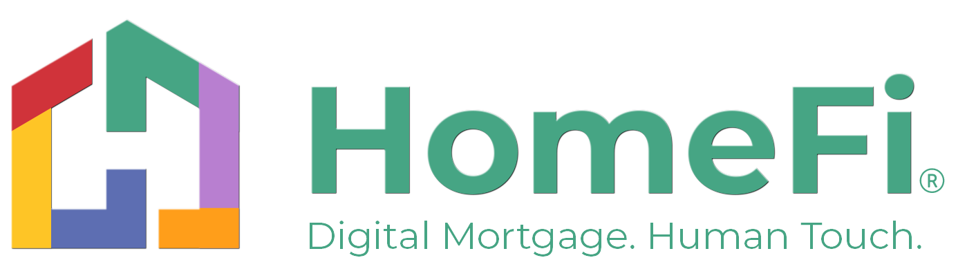 HomeFi logo with text HomeFi Digital Mortgage Human Touch